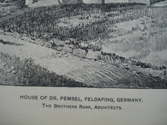 House of Dr. Pemsel, Feldafing, Germany, EUR, 1904, The Brothers Rank