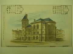 US Court House and Post Office , Topeka, KS, 1880, Jas. G. Hill