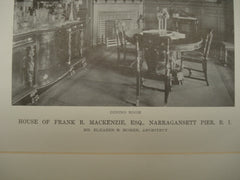 House of Frank R. Mackenzie, Esq., Narragansett Pier, RI, 1916, Eleazer B. Homer