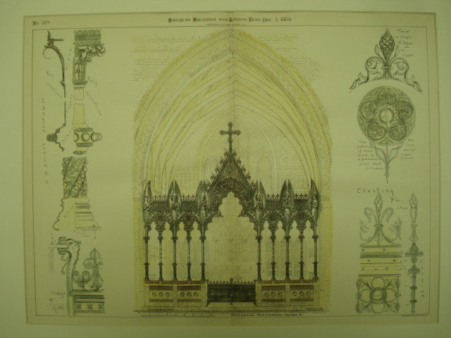 Memorial Rood Screen at the Church of the Redeemer , Bryn Mawr, PA, 1885, Frank Burns