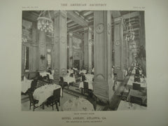 Main Dining Room of the Hotel Ansley , Atlanta, GA, 1916, Brinton B. Davis