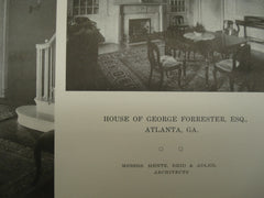 House of George Forrester, Esq., Atlanta, GA, 1916, Hentz, Reid & Adler