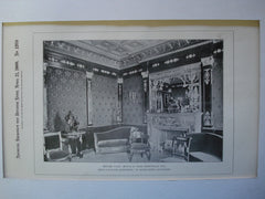 Empire Room in the House of Isaac Rosenwald, Esq, New York, NY, 1900, Brun & Hauser and W. Baumgarten, Decorator