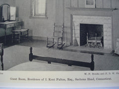 Guest Room in the Residence of I. Kent Fulton, Esq., Sachems Head, CT, 1930, W.F. Brooks and F.D. Glazier