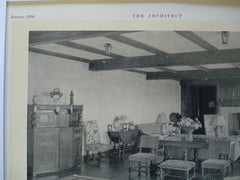 Living Room in the Residence of I. Kent Fulton, Esq., Sachems Head, CT, 1930, W.F. Brooks and F.D. Glazier