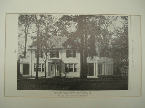 House of Frank E. Floyd , Indianapolis, IN, 1926, Willard Osler & Lee Burns