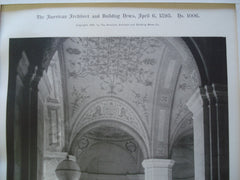 Entrance Hall: Public Library of the City of Boston, Boston, MA, 1895, McKim, Mead & White