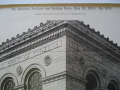 Southeast Corner: Public Library of the City of Boston, Boston, MA, 1895, McKim, Mead & White