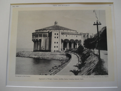 Approach to the Wrigley Casino, Avalon, Santa Catalina Island, CA, 1930, Webber and Spaulding