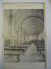 Bates Hall: Public Library of the City of Boston, Boston, MA, 1895, McKim, Mead & White