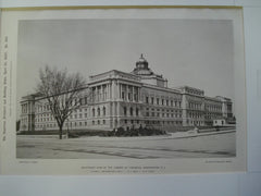 Southeast View of the Library of Congress, Washington, DC, 1897, Smithmeyer & Pelz: P.J. Pelz, E.P. Casey