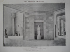 Octagonal Hall in the Museum of Fine-Arts , Minneapolis, MN, 1915, Messrs. McKim, Mead & White