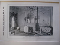 Parlor: House of Isaac Rosenwald, Esq., New York, NY, 1900, Brun & Hauser and W. Baumgarten, Decorator