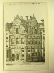 Goldwaage, or Custom-House, Groningen, Holland, EUR, 1899, Johan Isebrants