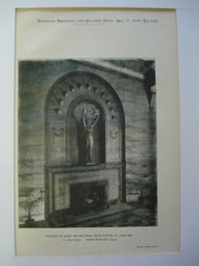 Fireplace in Ladies' Waiting-Room, Union Station, St. Louis, MO, 1896, T.C. Link