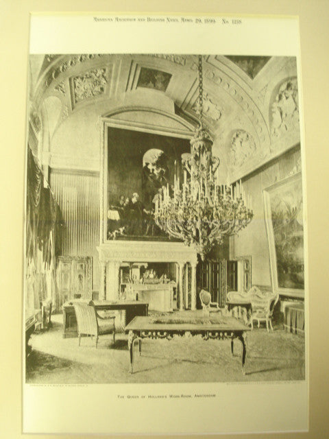 Queen of Holland's Work-Room, Amsterdam, Holland, EUR, 1899, Unknown
