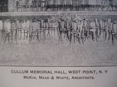 Cullum Memorial Hall, West Point, NY, 1900, Mckim, Mead & White