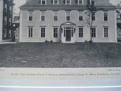 Faculty Club, Graduate School of Business, George A. Baker Foundation, Harvard University, Cambridge, MA, 1927, McKim, Mead and White