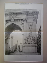 Northwest Pier of the Dewey Arch, New York, NY, 1900, Peace, Daniel C. French, Sculptor