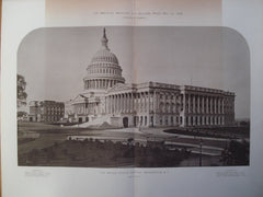 United States Capitol, East Front, Washington , DC, 1878, Stephen L. Hallet, George Hadfield, James Hoban, Benjamin H. Latrobe, Charles Bulfinch & Thomas U. Walter