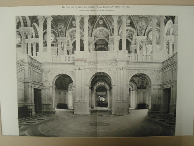 Main Staircase-Hall and Entrance to the Rotunda: Library of Congress, Washington, DC, 1898, Smithmeyer, Pelz & Casey
