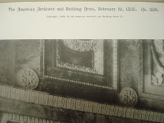 Detail of Mantelpiece in the House Reading-Room: Library of Congress, Washington, DC, 1898, Smithmeyer, Pelz & Casey