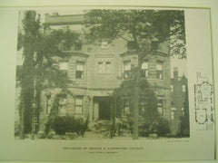 Residence of George B. Carpenter, Chicago, IL, 1890, Treat & Foltz