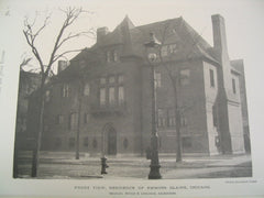 Front View, Residence of Emmons Blaine, Chicago, IL, 1890, Shepley, Rutan & Coolidge