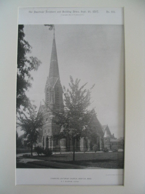 Channing Unitarian Church, Newton, MA, 1887, G. F. Meacham