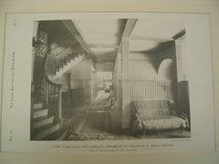 View from Hall into Library, Residence of Franklin H. Head, Chicago, IL, 1890, Irving K. Pond & Allen B. Pond