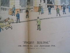 Pingree Building on the Corner of Shelby St and Jefferson Ave, Detroit, MI, 1892