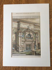 Parlor, Theo Chase, Boston, MA, 1877, Ware & Van Brunt, Original Hand Colored