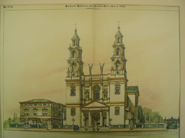 Cathedral of St. Peter and St. Paul, Indianapolis, IN, 1892, Renwick, Aspinwall and Russell