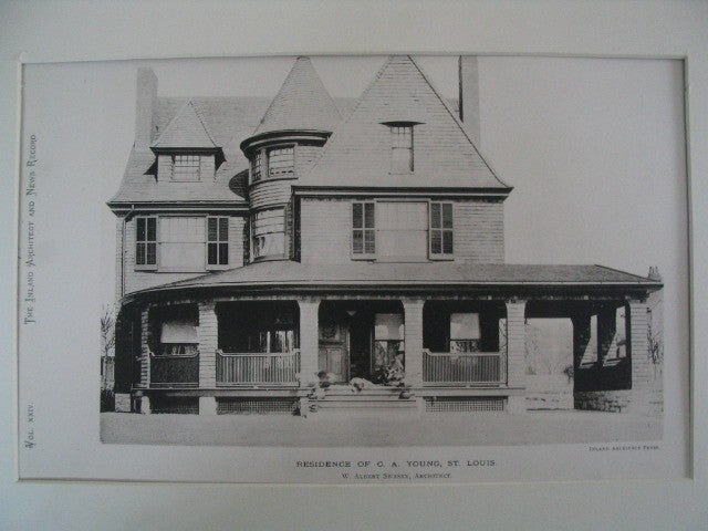 Residence of C. A. Young, St. Louis, MO, 1889, W. Albert Swasey