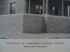 Residence of Professor Jordan, Chicago, IL, 1889, Myron Hunt