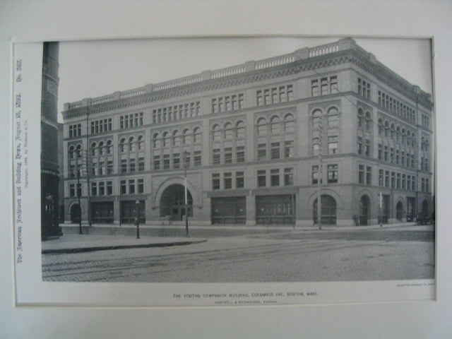 Youth's Companion Building on Columbus Ave., Boston, MA, 1892, Hartwell and Richardson