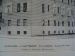 Arundel Apartment Building, Baltimore, MD, 1889, Wyatt and Nolting