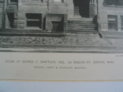 House of George O. Shattuck, Esq on 166 Beacon St., Boston, MA, 1891, Cabot and Chandler
