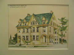 Double House for W. R. Sprague, Esq, St. Louis, MO, 1892, A. F. Rosenheim