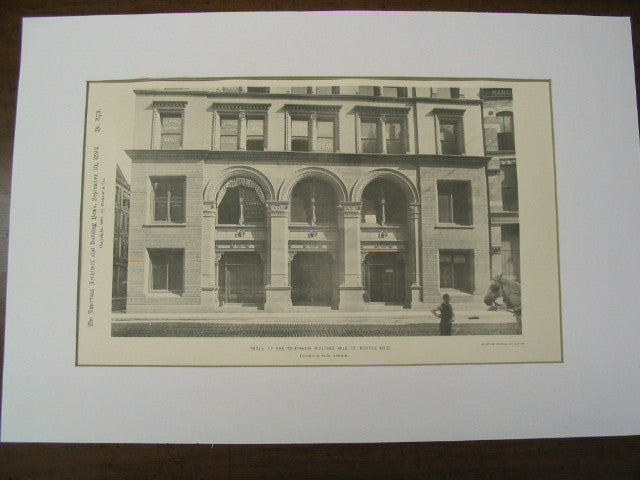 Telephone Building on Milk St., Boston, MA, 1892, Fehmer and Page