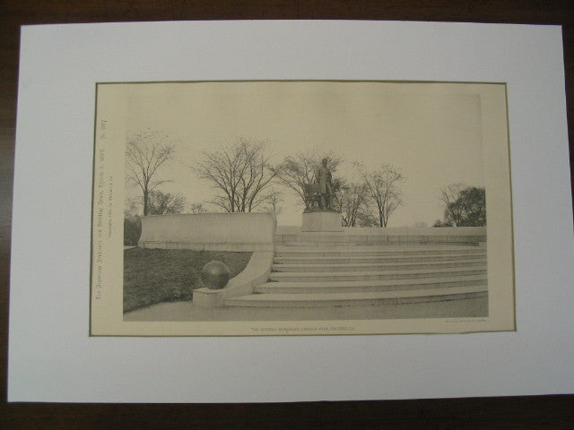 The Lincoln Monument at Lincoln Park, Chicago, IL, 1893, Stanford Whtie and Agustus St. Gaudens