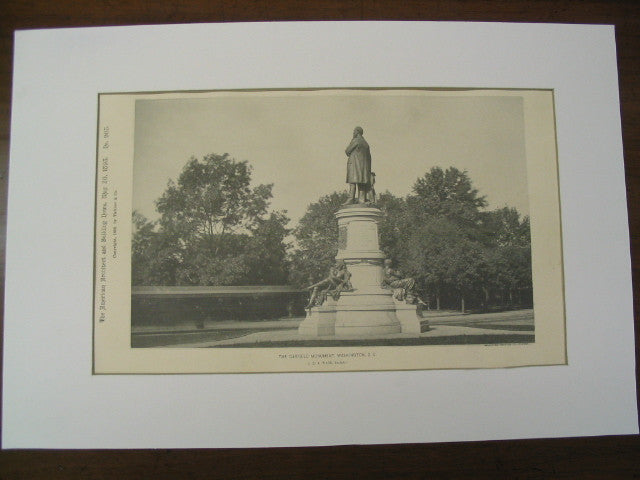 The Garfield Monument, Washington, DC, 1893, J. Q. A. Ward