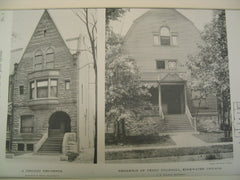 Chicago Residence and the Residence of Perry Trumbull, Chicago and Edgewater, IL, 1890, Burnham & Root and J. L. Silsbee