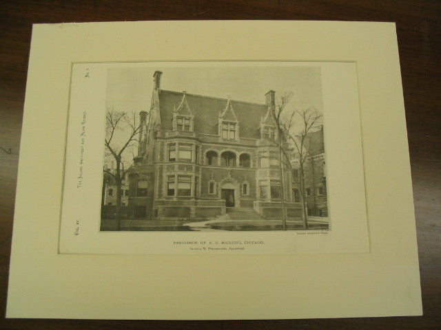 Residence of A. C. McClurg, Chicago, IL, 1890, Francis M. Whitehouse