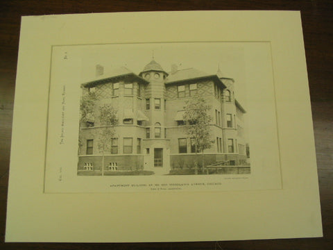 Apartment Building at No. 5515 Woodlawn Avenue, Chicago, IL, 1890, Irving K. Pond and Allen B. Pond
