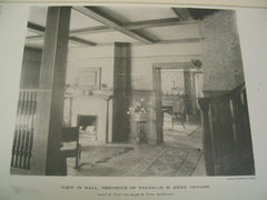View in Hall, Residence of Franklin H. Head, Chicago, IL, 1890, Irving K. Pond and Allen B. Pond