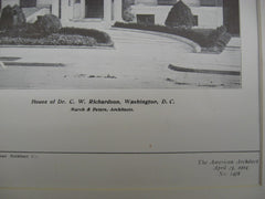 House of C. W. Richardson, Washington, DC, 1904, Marsh and Peters