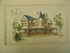 Residence of A. Newbold Morris, Ridgefield, CT, 1885, Charles A. Gifford