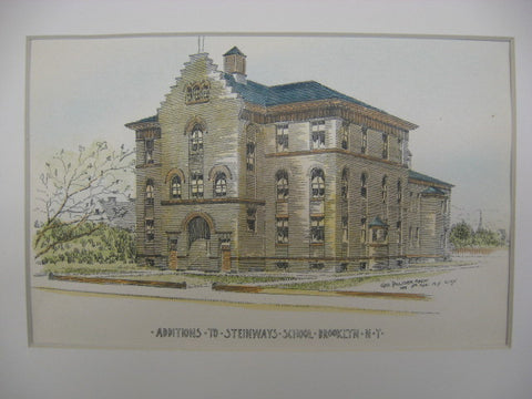 Additions to Steinways School, Brooklyn, NY, 1893, Geo. Palliser