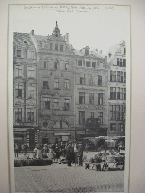 Street Fronts, Cologne, Germany, EUR, 1892